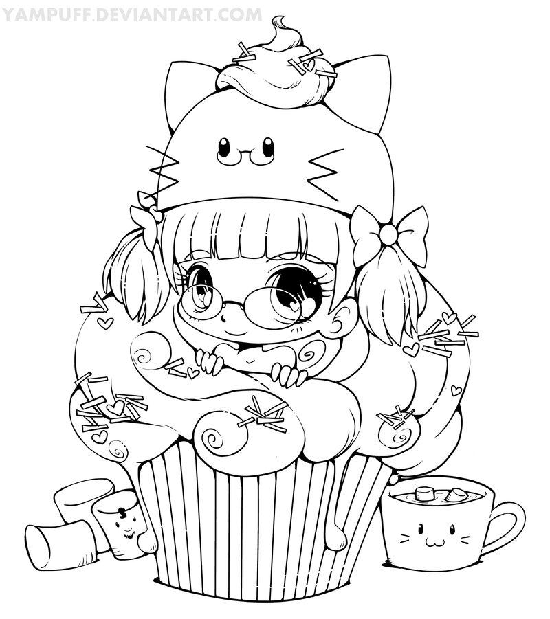 dessin a imprimer cupcake